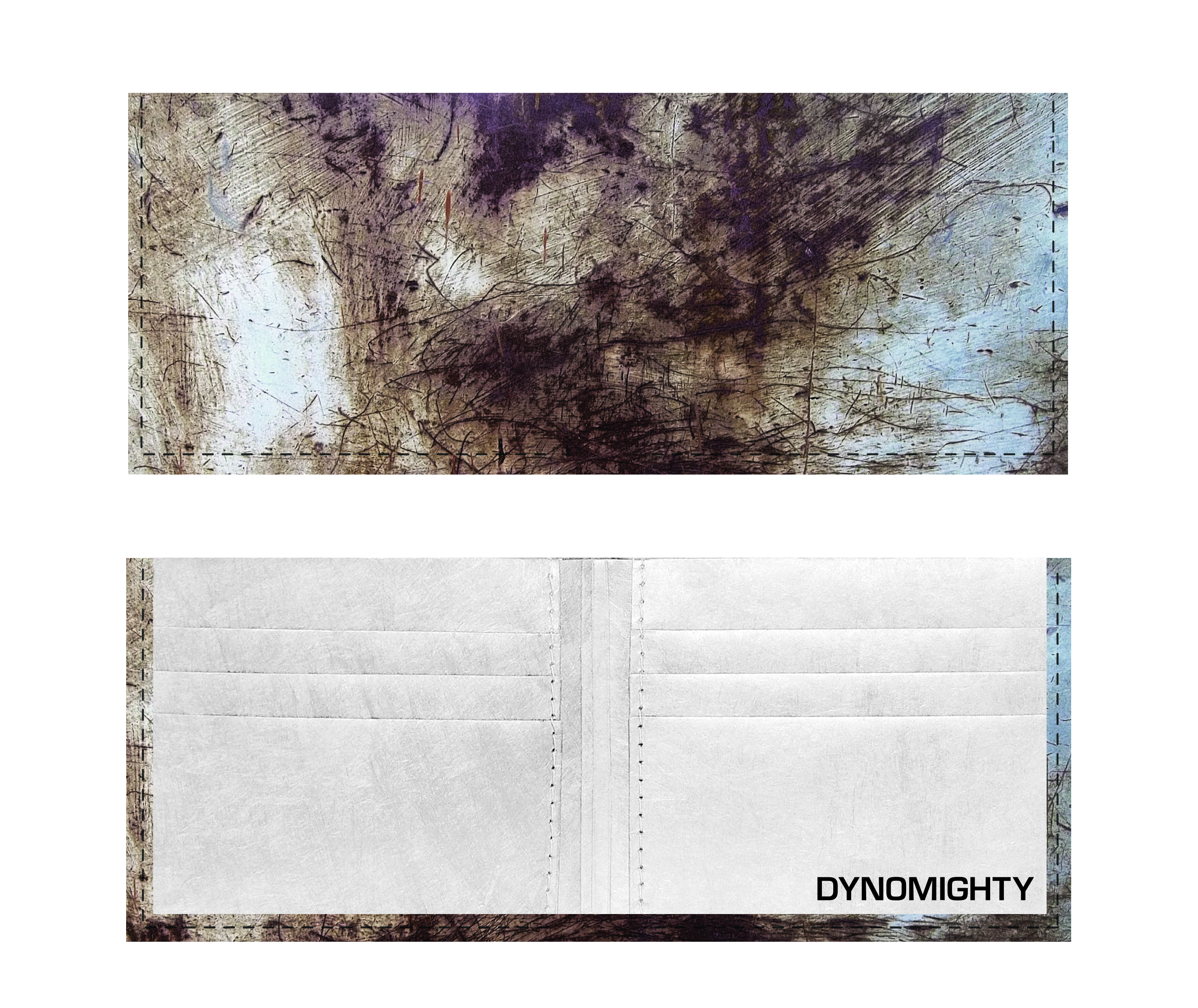 Dynomighty Tyvek Billfold - Scratched Metal
